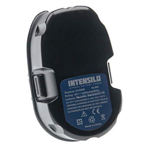 INTENSILO Batería compatible con Dewalt DW056N, DW057K, DW057K-2, DW057N, DW059, DW059B, DW908 FlashLight herramientas eléctricas (3300mAh NiMH 18V)