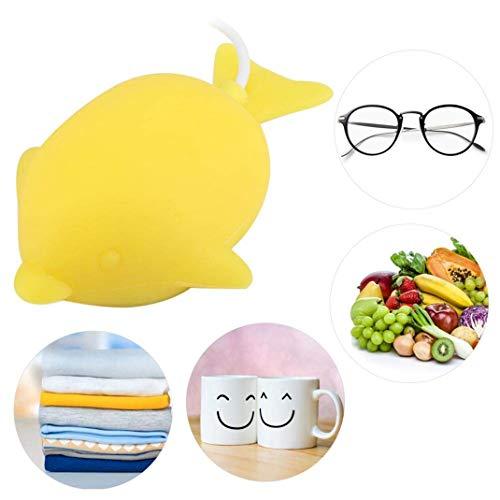 Mini lavandería portátil, Dispositivo de limpieza de joyería con lavadora de turbina ultrasónica, Lavavajillas ultrasónico inteligente Desinfección de frutas Descontaminación Sistemas de lavado,Yellow