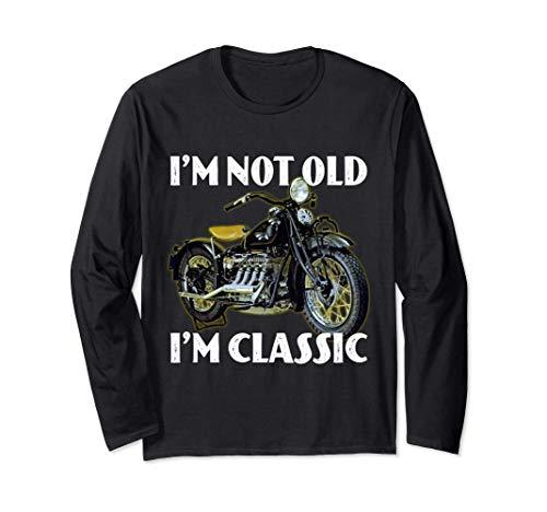 No soy viejo yo soy clásico - Motocicleta del vintage retro Manga Larga