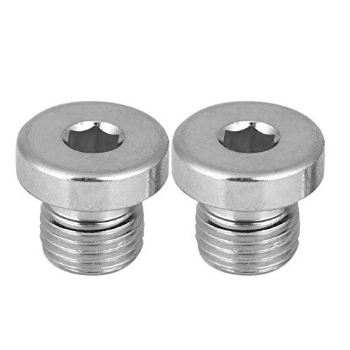 Cabeza de enchufe hexagonal, Cabeza de enchufe de tornillo de fácil instalación, Cabeza de enchufe de perno(G1/4 * 19(2PCS))