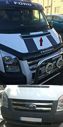 Transit MK7 Edelstahl Chrom Motorhaube Lüftungshaube & Frontgrill 2 Stück (2006–2013)