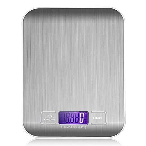 Z-LIANG Básculas de Cocina USB Digital de Acero Inoxidable 10kg / 5kg Precisión electrónica Postal Postal Dieta Escala de Dieta para cocinar Herramientas de Medida para Hornear Oficina