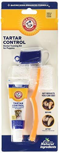 Arm & Hammer for Pets Tartar Control Dental Training Kit for Puppies | Toothbrush, Toothpaste, & Fingerbrush | Vanilla Ginger, Puppy Training Kit
