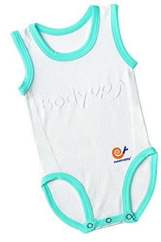 Mebby Body pour Bébé Évolutif Léger sans Manche - Bleu et Blanc - 0 à 3 ans