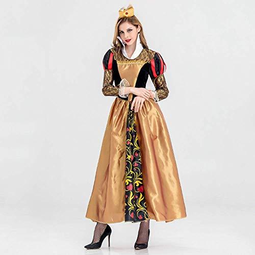YyiHan Halloween Kostüm, Alice im Wunderland der Herz-Königin Kostüm Gericht Klage Cosplay Make-up Halloween-Partei-Kostüm Stage Performance Kostüm