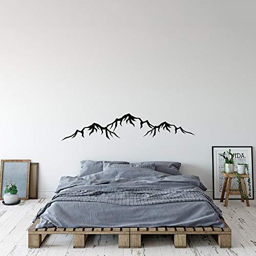 LSMYM Calcomanía de diseño de montaña Calcomanías de pared de silueta de montaña Calcomanía moderna para decoración de pared para el hogar Papel tapiz Pegatinas Marrón 203cm X 42cm