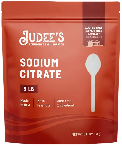 Judee's BULK Sodium Citrate 45lb (5lb Pack of 9) - 100% Non-GMO, Keto-Friendly - Gluten-Free & Nut-Free - Food Grade - Great for Molecular Gastronomy Cooking - Emulsifier for Cheese Sauce