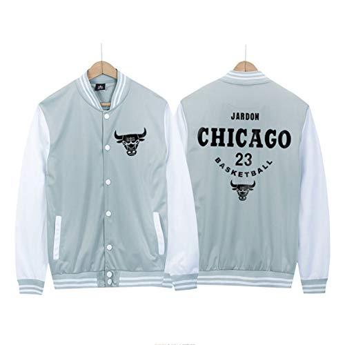 CNMDG Michael Jordan Männer Basketballjacke Baseball Uniform, Chicago Bulls 23# Youth Icon Edition Swingman Jacke, ideal für Outdoor-Sport Party-Feier (M-4XL) White-XL