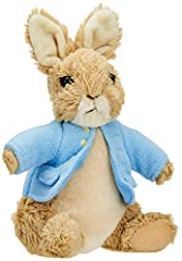 """PETER RABBIT PLUSH: Classic 6.5"""" Peter Rabbit plush from the beloved Beatrix Potter series features Peter's signature blue coat as well as accurate details drawn from the original illustrations. SOFT & HUGGABLE: Made from a soft, huggable material th..."""