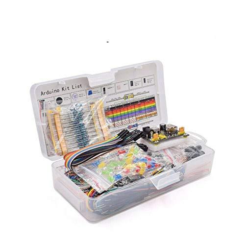 TSAUTOP Newest Componente Elettronico Kit Assortito per Ard-uino Raspberry PI STM32 con 830 Tie-Points Breadboard Alimentatore Set di Alimentazione Leshp Set Componente Elettronico