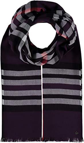 FRAAS Karierter Schal für Damen & Herren - XXL-Schal Made in Germany - Moderner Decken-Schal - Plaid mit Karo-Muster - Perfekt für Frühling und Sommer Pflaume