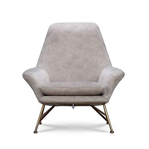 LRXGOODLUKE vrijetijdsstoel, Nordic startskant smeedijzeren woonkamer luifel vrijetijdsstoel kleine woning moderne minimalistische slaapkamer enkele sofa, stoel,
