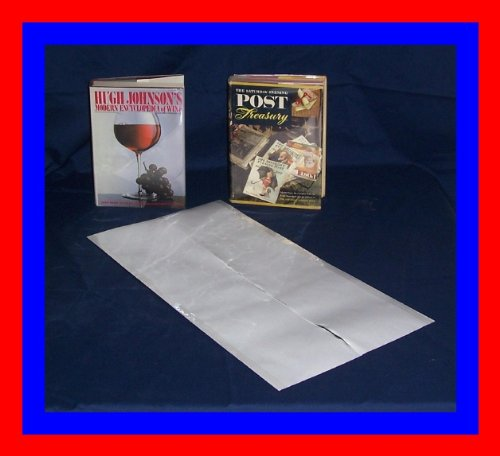 25-11' x 24' Brodart Archival Fold-On Book Jacket Covers - Center-Loading, Clear, Mylar, Adjustable