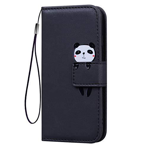 KERUN Hülle für Xiaomi Poco X3 Pro / X3 NFC Flip-Ledertasche, Hochwertige [PU/TPU] Handyhülle mit Magnetischer Brieftasche Konzipiert, Schutzhülle mit Stoßfester Standfunktion. Schwarz
