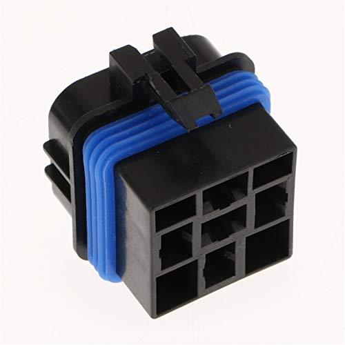 Ymhan 2pcs 12v 40a 4pins Cableado de relé Dentro del zócalo Impermeable con terminales