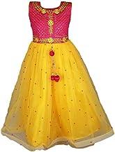 My Lil Princess Baby Girls Birthday Frock Dress_Kids Anarkali Red Frock_3-10 Years