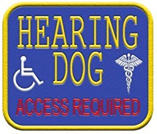 WORKINGSERVICEDOG.COM Hearing Dog - Patch for Service Dog Vest or Harness