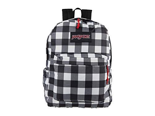 JanSport Superbreak Plus Backpack - School, Work, Travel, or Laptop Bookbag with Water Bottle Pocket, Buffalo Check Mix