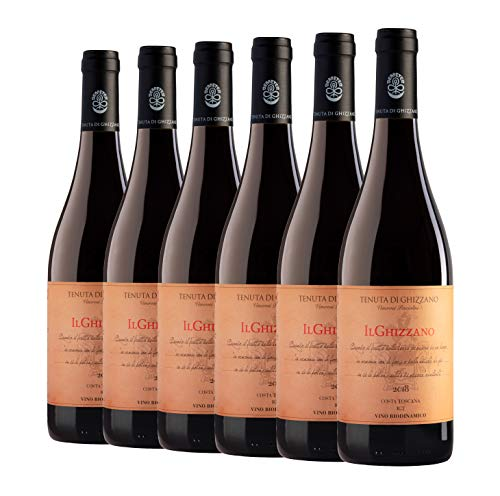 Tenuta di Ghizzano - Il Ghizzano 2018 - Vino Tinto Italiano I.G.T. Costa Toscana. Fino, Ecológico, Orgánico, Biodinámico Certificado Demeter. Caja de 6 Botellas