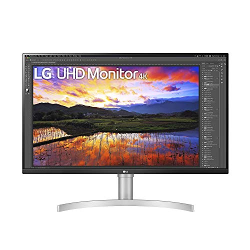 LG 32UN650-W 32 Inch UHD (3840 x 2160) IPS Ultrafine Display with HDR10 Compatibility, DCI-P3 95% Color Gamut, AMD FreeSync, and 3-Side Virtually Borderless Height Adjustable Stand, Silve/White