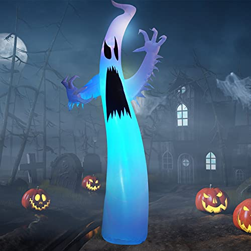 11.8 pies Halloween Inflables Decoracin con Luces LED, EBANKU Halloween Decoracin de Jardn Interior al Aire Libre Fantasma Inflable Jardn Patio Fiesta de Terror
