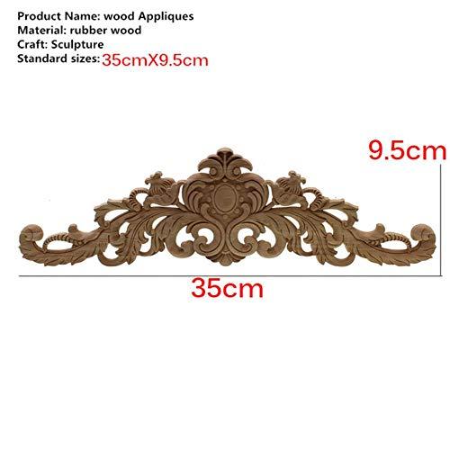 Chenxi tienda 2pcs 8/x 8/cm sin pintar madera tallada aplique de esquina para muebles decoraci/ón del hogar