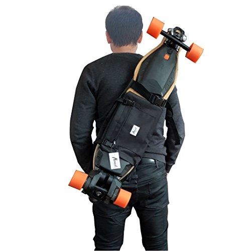 Rucksack für das Longboard Elektro, Surf Skate oder Skateboard Komplett, Geschenk-Idee Valentinstag. Farbe schwarz.