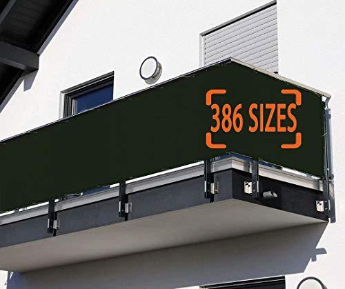 Losxy Balcon Lona 125x550cm, Impermeable Toldo Lateral para Balcon Instalación Simple y Segura para Jardín Balcón Terraza Piscina - Verde