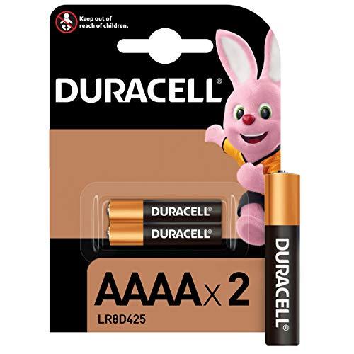 Duracell AAAA Pile alcaline 1,5V, lot de 2 (LR8D425), pour stylets numériques (Suface Pen), dispositifs médicaux et phares