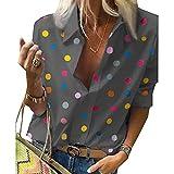 Nueva Blusa De Lunares para Mujer, Camisas De Manga Larga con Cuello Vuelto, Ropa De Calle, Blusa para Mujer