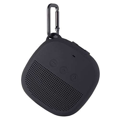 Aotnex Carrying Case for Bose SoundLink Micro Case with Portable Metal Hook for Easy Carrying, Soft Silicone Shockproof Cover Fits Bose Micro Bluetooth Speakers for Secure Outdoor Protection