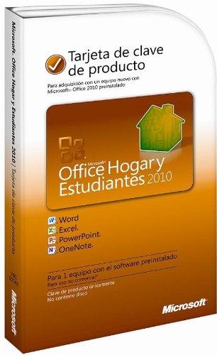 Microsoft Office Hogar y Estudiantes 2010 PC