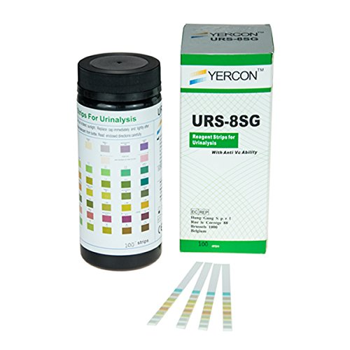 Yercon Urine Infection Test 8 Parameter Urine Dip Test (100 Test Strips per Pack)