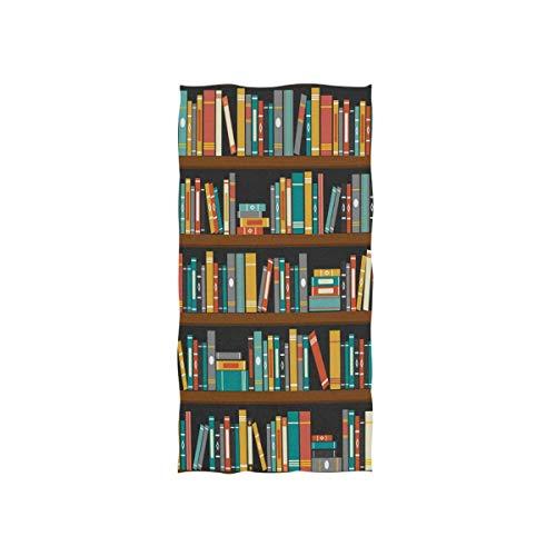 Rode washandjes Soft Grey 30 x 15 inch terug naar school boekenkast boekenworm washandje van Hotel Spa Gym Sport