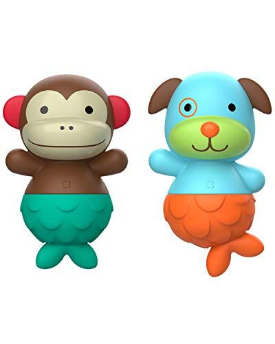 Skip Hop Mix & Match Flippers Baby Bath Toy, Monkey/Dog