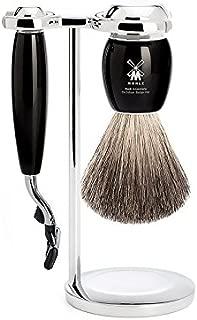 Muhle Vivo Black Mach 3 Classic Shaving Gift Set Wet Shave Kit