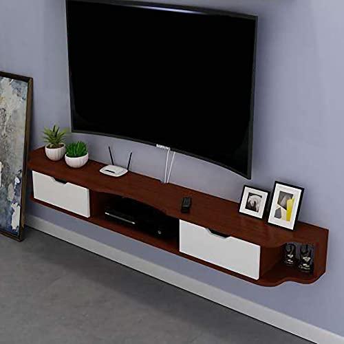 Mueble de TV Flotante, Mueble TV de Pared mate, unidad de entretenimiento de montaje en pared para apartamento pequeño sala de estar dormitorio/E / 120cm