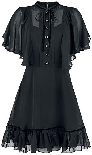 Hell Bunny Imperia Dress Frauen Kurzes Kleid schwarz XL 100% Polyester Gothic, Sommerkleider