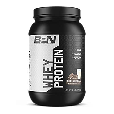 Bare Performance Nutrition, Whey Protein Powder, Meal Replacement, 25G of Protein, Excellent Taste & Low Carbohydrates, 88% Whey Protein & 12% Casein Protein (27 Servings, Milk N' Cookies)