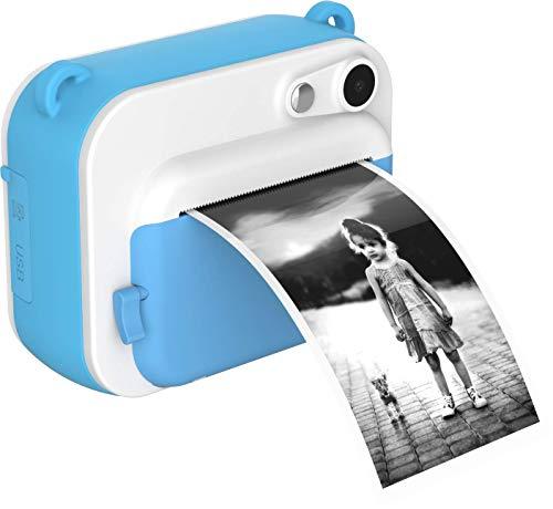 Oaxis撮った画像その場で印刷myFirst Camera Insta インスタ プリンターカメラ 全二色2インチIPS画面  インクレス印刷  サーマル印刷 操作簡単 タイムラプス デコレーション ミニカメラ キッズカメラ (青)