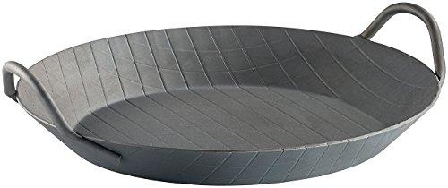 Tornwald-Schmiede Paella Pfanne: Kaltgeschmiedete Pfanne, 2 Griffe, Rautenprägung, Ø 24 cm, 2,9 cm hoch (Grillpfannen)