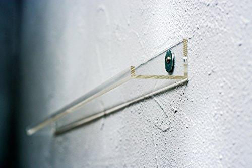 7even Acryl Design Vinyl & Picture Gallery Board 100cm / transparentes Regal für z.b. Schallplatten