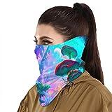 Protección solar Bandanas Psicodélico Colorido Seta Bosques Cara Bufanda Cubierta Máscara Cuello Polaina Con 2 Filtro