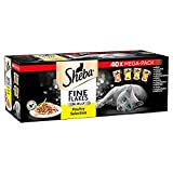 Sheba Fine Flakes Cat Pouches Poultry Collection in Jelly, 40 x 85g