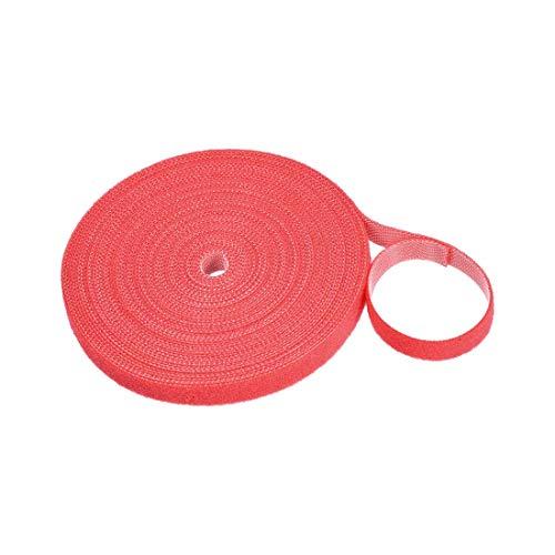YeVhear - Abrazaderas de cable reutilizables con gancho y hebilla, 11 velas, color rojo