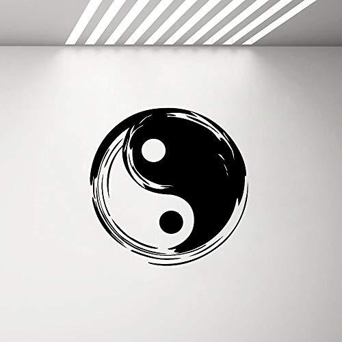 yaonuli Yin Yang vinyl sticker wandsticker decoratie woonkamer Chinese oude filosofie patroon kaart taoisme