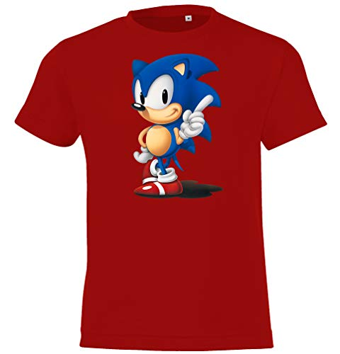 Kinder T-Shirt Modell Sonic, Gr. 118/128 (8 Jahre), Rot