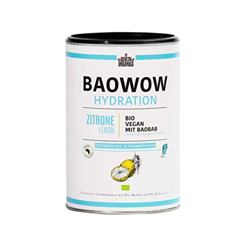 Isotonico organico organico sportivo bere in polvere Berlin Organics organici Baowow idratazione Baowow - Carboidrati ed elettroliti (400)