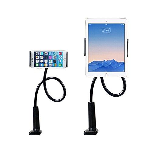 Enllonish Supporto Tablet e Cellulare, Porta Cellulare Tablet da tavolo con Braccio Regolabile e Rotazione di 360 Gradi Supporto Stand da 4.7   a 10.5    per iPad, iPhone, Samsung, Huawei- Nero