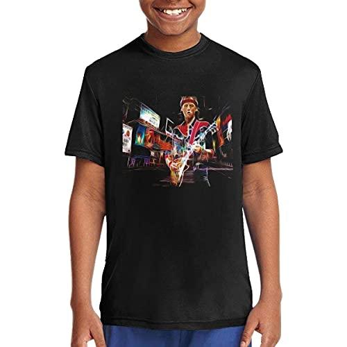 Dire Straits Art Music/Rock/Singer Cotton Shirt Round Neck Short Sleeve Shirts for Teen Boys and Girls Classic Fit Black,T-Shirts & Hemden(Small)